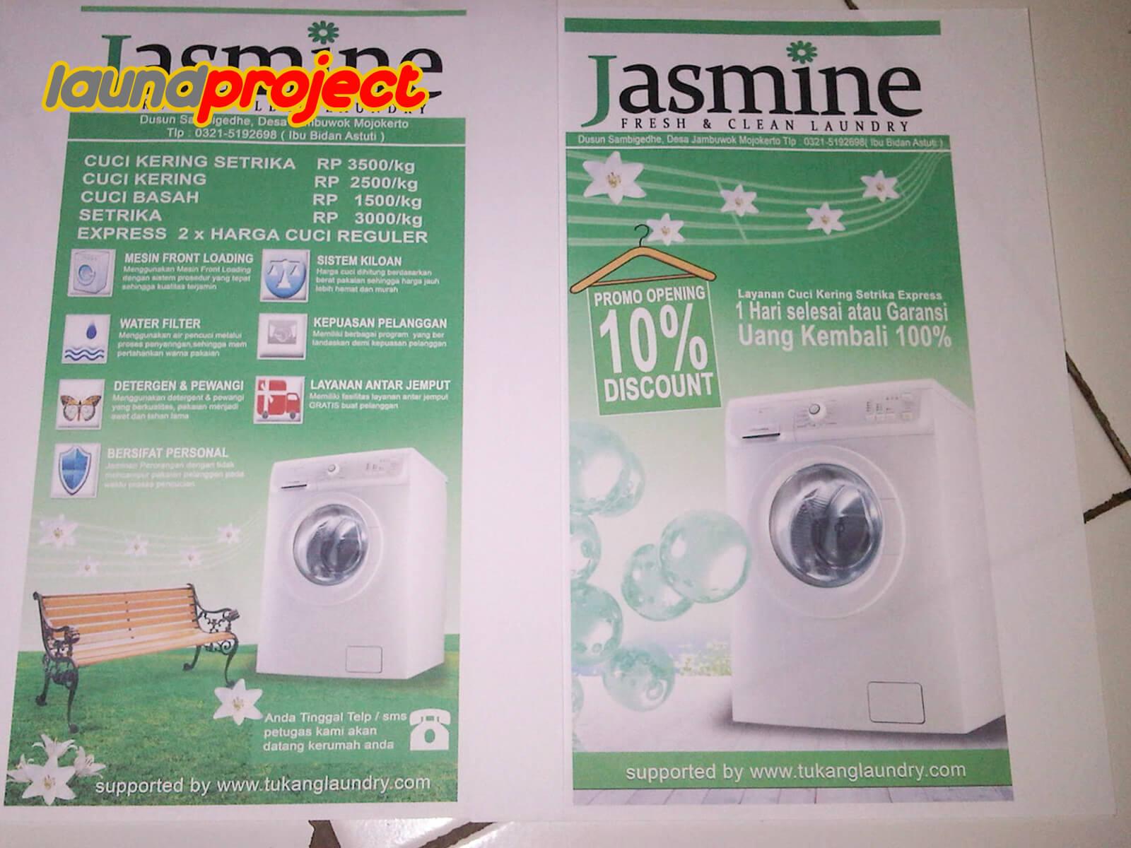 paket usaha laundry gratis desain promosi gratis 1000 lembar